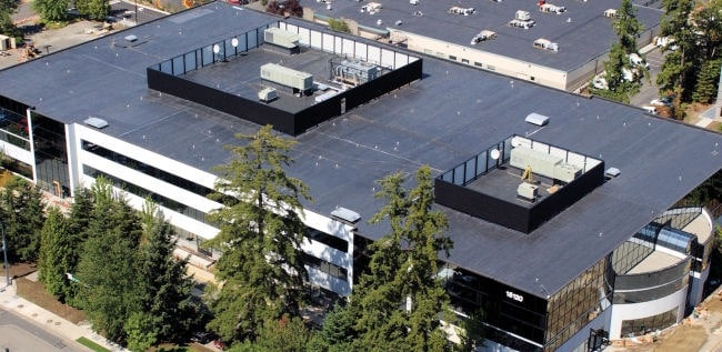 Office building roof - Commercial roofing